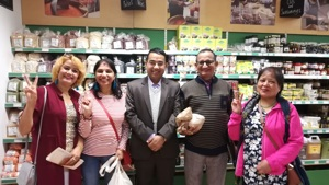 Nepalese visitors in Unicorn Grocery Worker Co-op